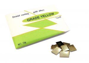 歯科用金属 白金加金合金 グレイドイエロー