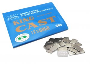 歯科用金属:金パラ 「キングキャスト12%」